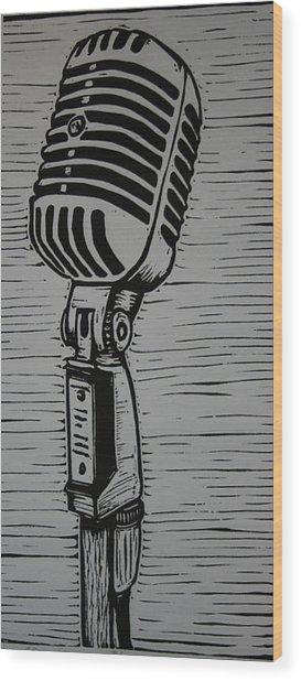 Shure 55s Wood Print