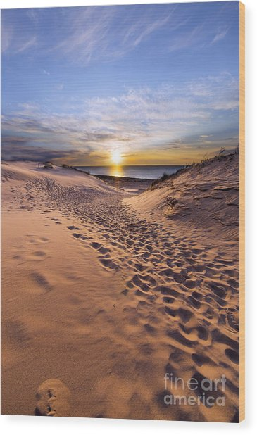 Sleeping Bear Dunes Sunset Wood Print by Twenty Two North Photography