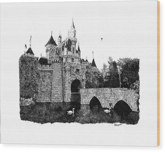 Sleeping Beauty Castle Wood Print