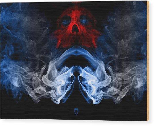 Smoke Photoart Wood Print