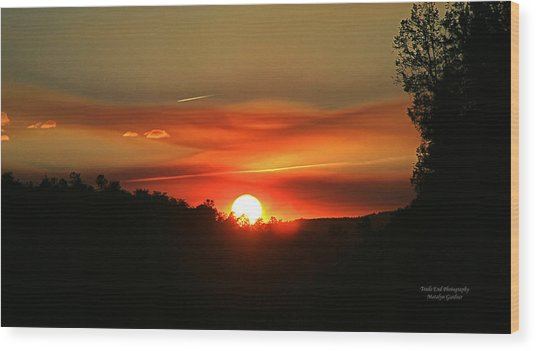 Smokin' Payson Sunset Wood Print