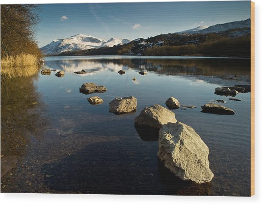 Snowdon And Llyn Padarn Wood Print