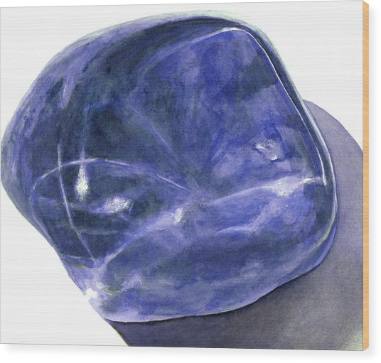 Sodalite Stone Wood Print