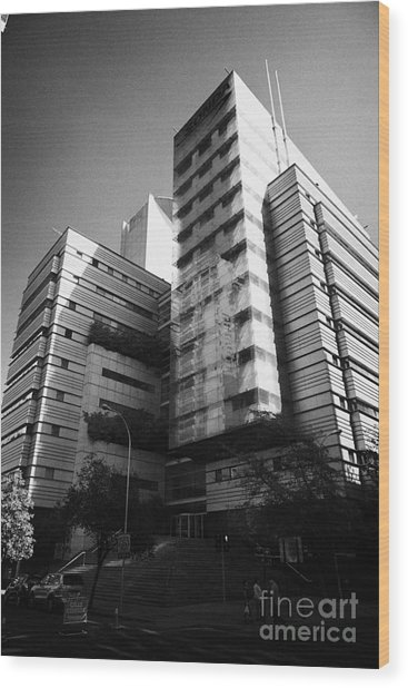 sonda it company headquarters Santiago Chile Wood Print by Joe Fox