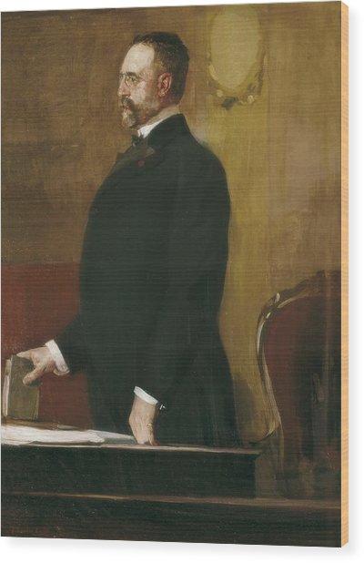 Sorolla, Joaqu�n 1863-1923. Portrait Wood Print by Everett