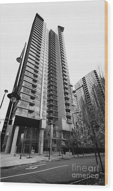 spectrum condo towers in downtown Vancouver BC Canada Wood Print