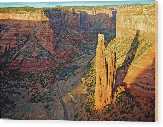 Spider Rock In Canyon De Chelly Wood Print