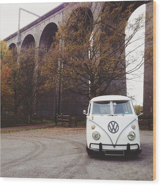 Splitty By The Viaducts Wood Print