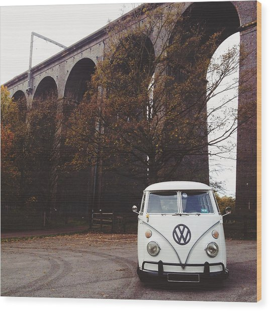 Splitty By The Viaducts II Wood Print