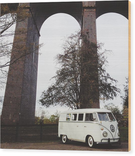 Splitty By The Viaducts IIi Wood Print