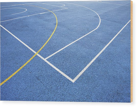 Sports Court Wood Print by Richard Newstead