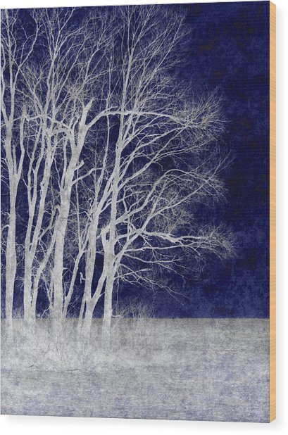 Spring Frost Wood Print