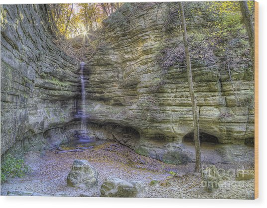 St. Louis Canyon At Starved Rock Wood Print
