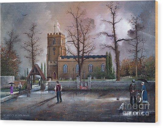 St Marys Church - Kingswinford Wood Print