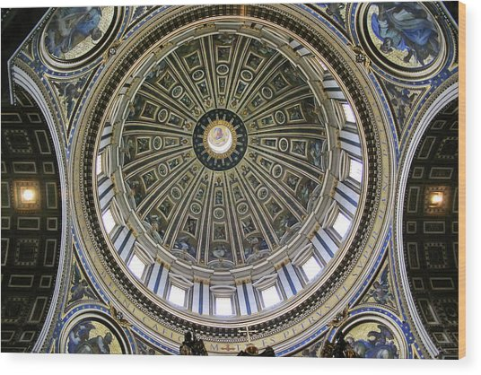 St. Peter's Basilica Dome Wood Print