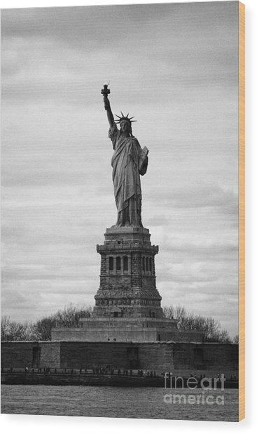 Statue Of Liberty Liberty Island New York City Usa Wood Print by Joe Fox