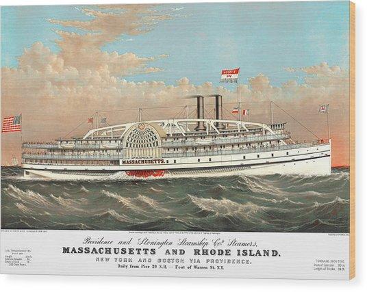 Steamship Massachusetts Wood Print