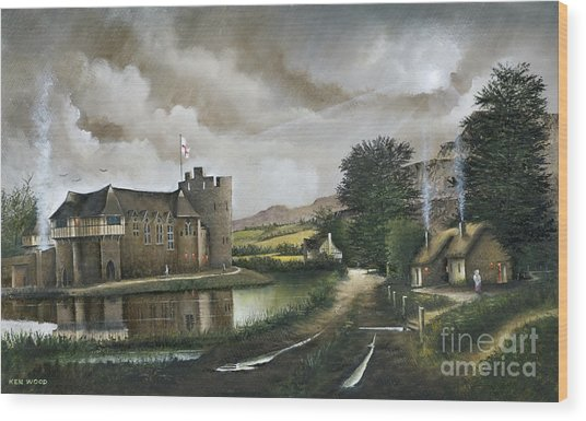 Stokesay Castle Wood Print