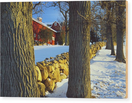 Stonewall Farm Wood Print