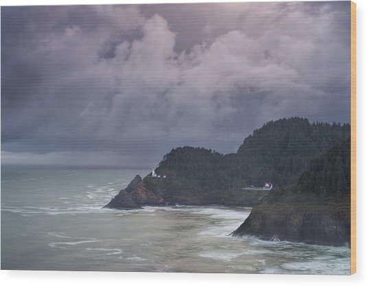 Storm Rolling In Wood Print by Andrew Soundarajan