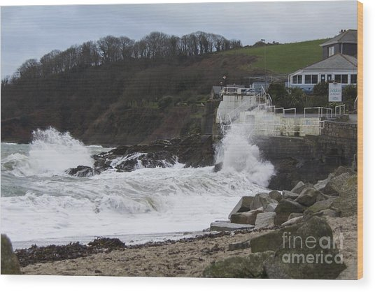 Stormy Falmouth Wood Print
