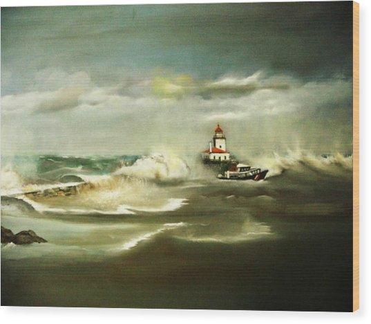 Stormy Wood Print by Pamela Powers