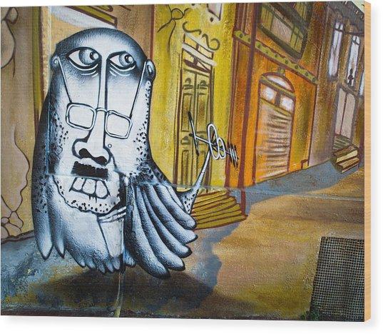 Street Art Valparaiso Wood Print