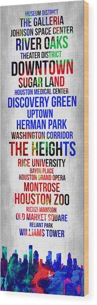 Streets Of Houston 1 Wood Print