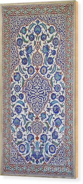 Sultan Selim II Tomb 16th Century Hand Painted Wall Tiles Wood Print