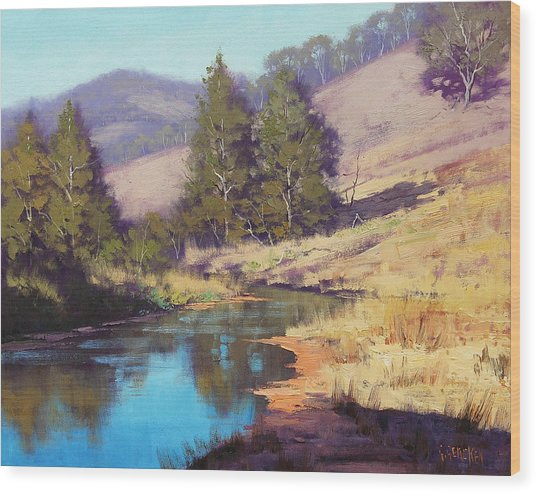 Summer River  Wood Print by Graham Gercken
