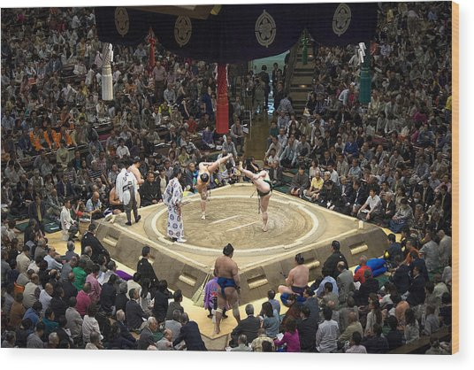 Sumo Summer Tournament 2014 Tokyo Wood Print