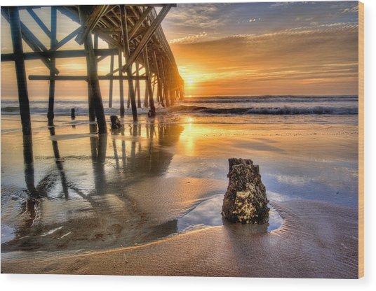 Sunrise In Myrtle Beach Wood Print