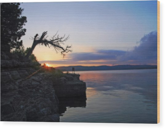 Sunrise Over Table Rock Lake Wood Print