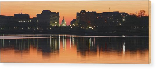 Sunrise Over The Capitol-2 Wood Print