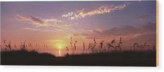 Sunset Over The Sea, Venice Beach Wood Print