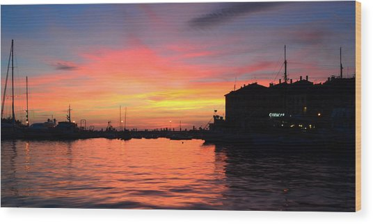Sunset Rovinj Wood Print