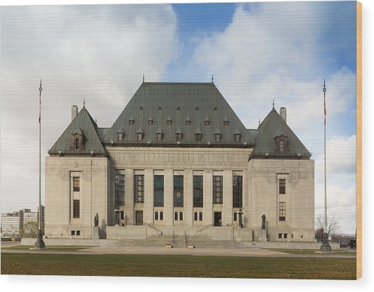 Supreme Court Of Canada Building Wood Print