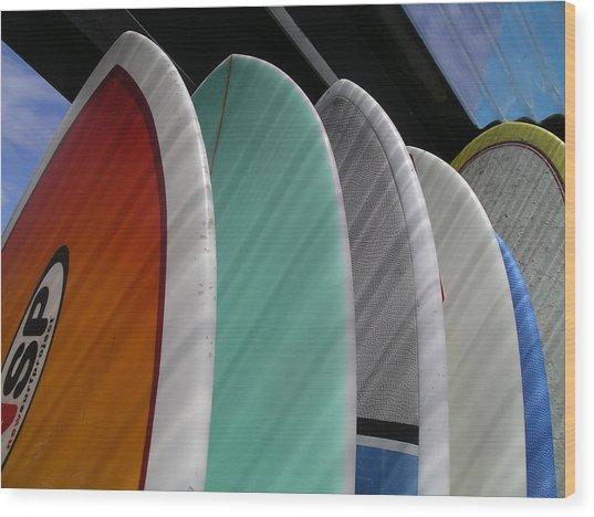 Surf Break Wood Print