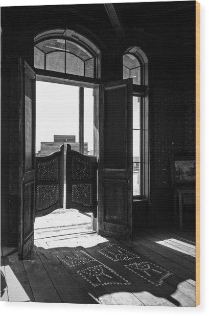 Swinging Doors Wood Print