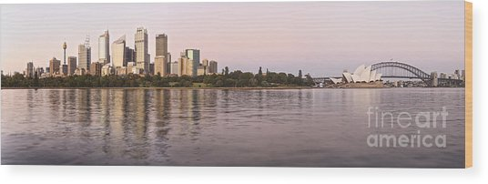 Sydney Harbour Panorama Wood Print
