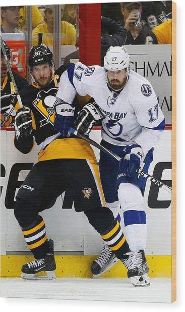Tampa Bay Lightning V Pittsburgh Penguins - Game Seven Wood Print by Justin K. Aller