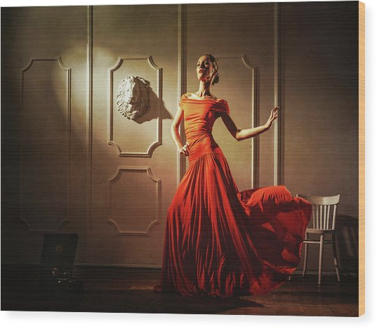 Tango Wood Print by Sergei Smirnov