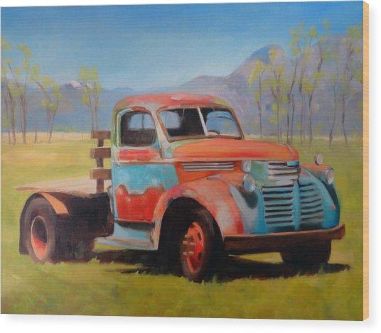 Taos Truck Wood Print
