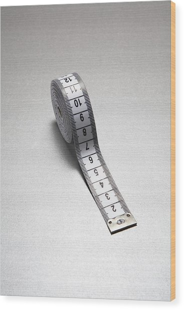 Tape Measure Wood Print by Gary Smith/science Photo Library