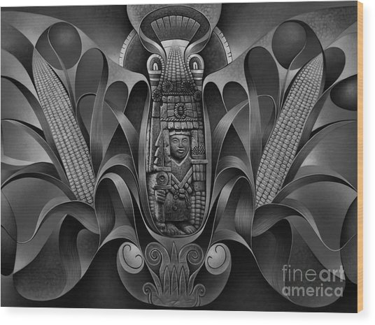 Tapestry Of Gods - Chicomecoatl Wood Print