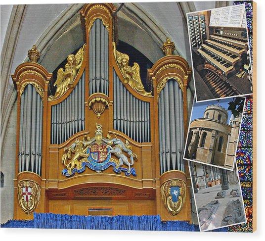 Temple Church London Wood Print