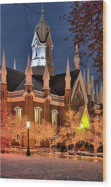 Temple Square Salt Lake City Utah Wood Print