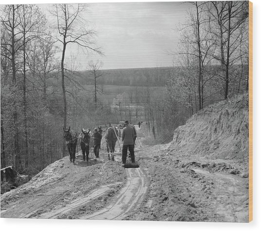 Tennessee Roads, 1936 Wood Print by Granger