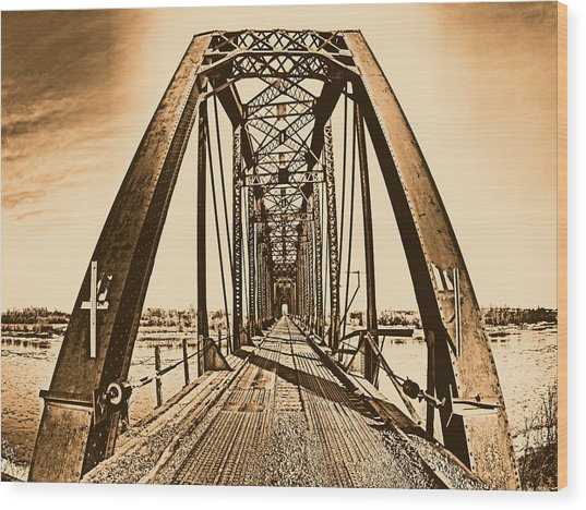 Terry Bridge Wood Print by Leland D Howard