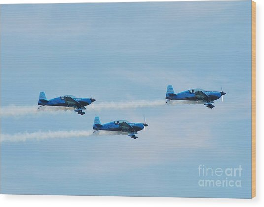 The Blades Aerobatic Team Wood Print